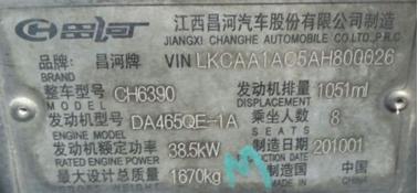Datos del auto